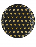 8 piattini in cartone Topolino Gold™ 20 cm