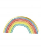 16 tovaglioli in carta arcobaleno rainbow party