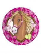 8 piatti in cartone Cavallo 23 cm