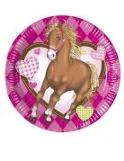 8 piattini in cartone Cavallo 20 cm