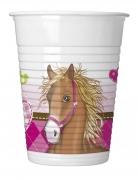 8 bicchieri in plastica Cavallo
