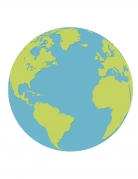 16 tovaglioli di carta pianeta terra