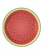 8 piatti in cartone anguria party 23 cm