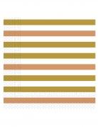 20 tovaglioli di carta bianchi oro e oro rosa