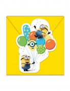 6 Inviti e buste Minions ballons party™