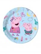 8 piatti in cartone a tema Peppa Pig™ 23 cm