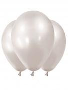 12 palloncini in lattice bianco metallizzato
