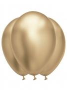 6 palloncini in lattice oro effetto satinato