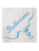 20 tovaglioli in carta il mio battesimo blu