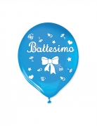20 palloncini in lattice il mio battesimo blu