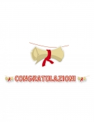 Ghirlanda in cartone laurea Congratulazioni