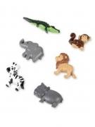 6 animali della giungla in resina adesivi