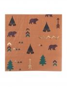 16 Tovaglioli in carta foresta indiana 33x33 cm