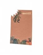 8 Inviti in cartone dinosauro kraft