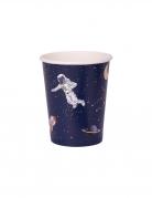 8 bicchieri in cartone astronauta