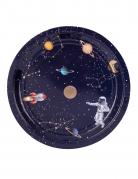 8 piatti in cartone astronauta 23 cm