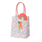 4 sacchetti regalo pois multicolor e arcobaleno