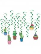 12 sospensioni a spirale cactus verdi