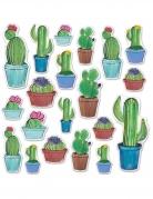 20 decorazioni in cartone cactus