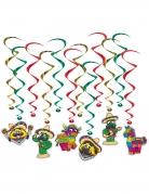 12 sospensioni a spirale fiesta messicana