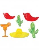 6 decorazioni in cartone colorato Messico