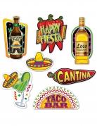 7 decorazioni in cartone fiesta messicana