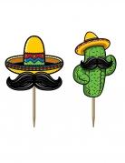 50 stecchini decorativi fiesta messicana