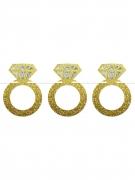 Ghirlanda in cartone anelli dorati