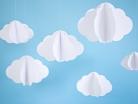 3 nuvole in cartone da appendere