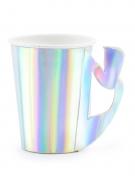 6 bicchieri in cartone iridescente sirena
