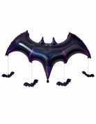 Palloncino alluminio pipistrello nero e viola