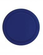 16 piatti in cartone blu scuro 23 cm