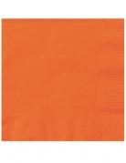 20 mini tovaglioli di carta arancione