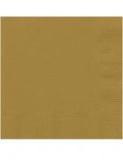 20 Tovagliolini in carta oro 25x25 cm