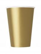 14 Bicchieri in cartone oro