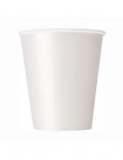 8 Bicchieri in cartone bianchi