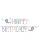 Ghirlanda in cartone Happy Birthday narvalo