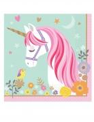 16 tovaglioli di carta unicorno magico