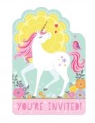 8 inviti per festa unicorno magico