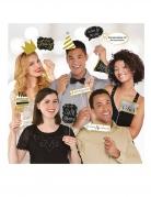 Kit photobooth 13 accessori festa scintillante