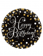 8 Piatti Happy Birthday Scintillante 23 cm