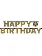 Ghirlanda in cartone Happy Birthday scintillante