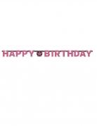 Ghirlanda Happy Birthday Frizzante rosa