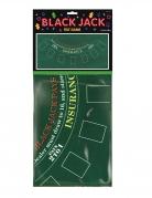 Tovaglia in feltro Black Jack per casino 94 x 182 cm