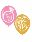 6 palloncini in lattice from Miss to Mrs