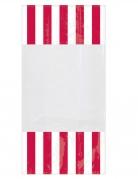 10 Sacchetti di plastica a righe rosse 25 x 13 cm