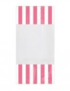 10 Sacchetti di plastica a righe rosa 25 x 13 cm