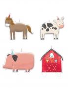 4 candeline animali della fattoria