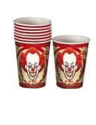 8 bicchieri in cartone clown assassino