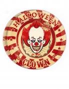 8 piatti in cartone clown assassino 23 cm